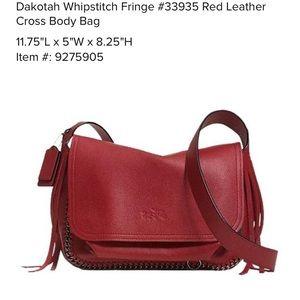 Coach Dakotah Whipstitch Fringe Crossbody Bag